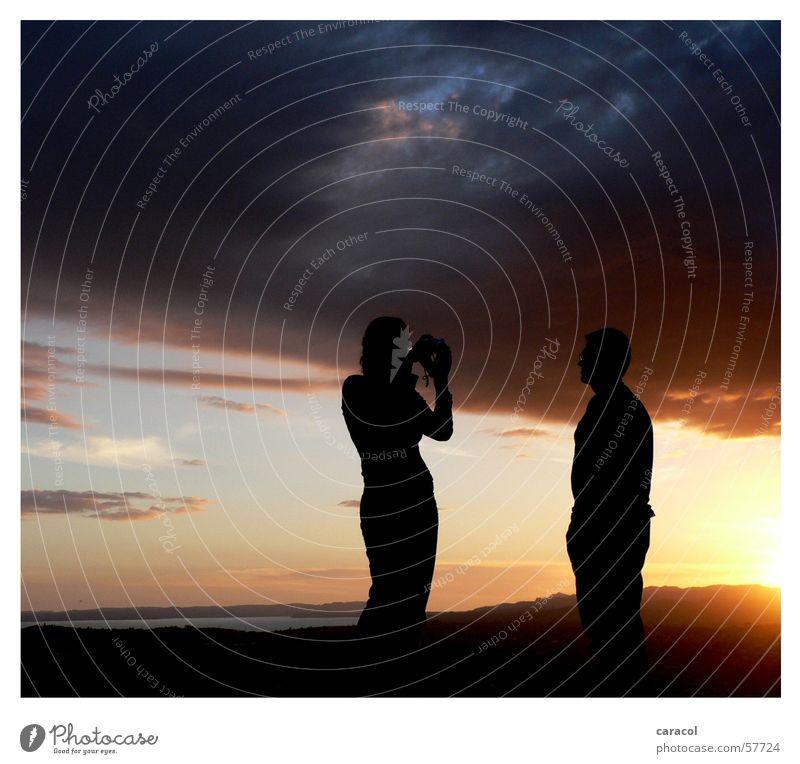 Mount Eden Sunset Mensch Sonne Meer Wolken Berge u. Gebirge Wärme Stimmung groß Tourismus Aussicht Physik Sehnsucht Hügel dramatisch Ambiente