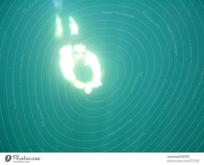 Abgetaucht Wasser tauchen Lichtspiel