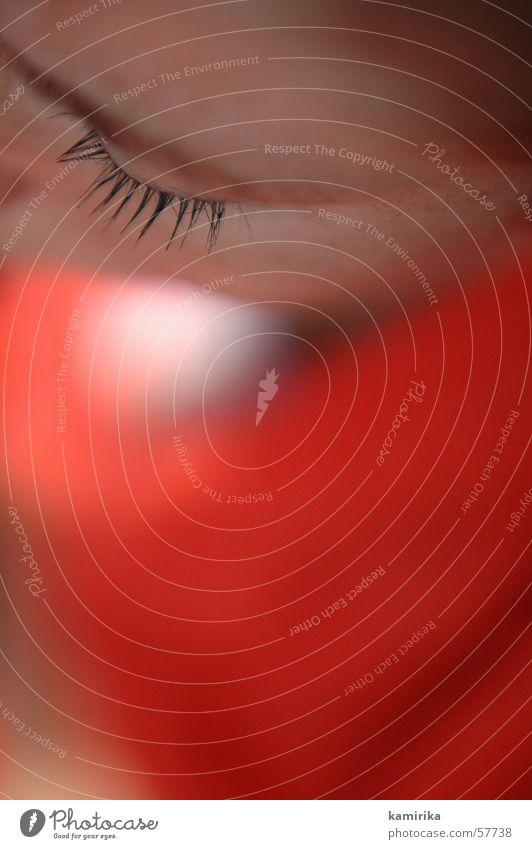 wimpernschlag Frau Mensch rot Sommer Auge Sommersprossen Wimpern Leitersprosse