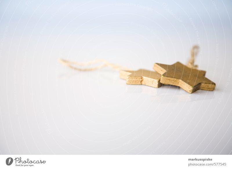 goldstern Weihnachten & Advent Innenarchitektur Holz Stil Feste & Feiern Gesundheit liegen Wohnung gold elegant Idylle Lifestyle Design Dekoration & Verzierung Schnur retro