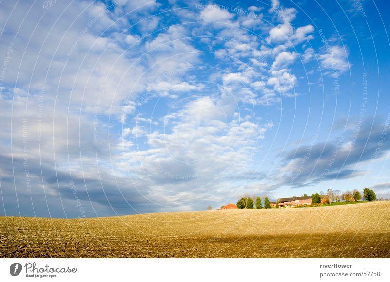 Norwegische Landschaft Himmel Wolken Feld Bauernhof