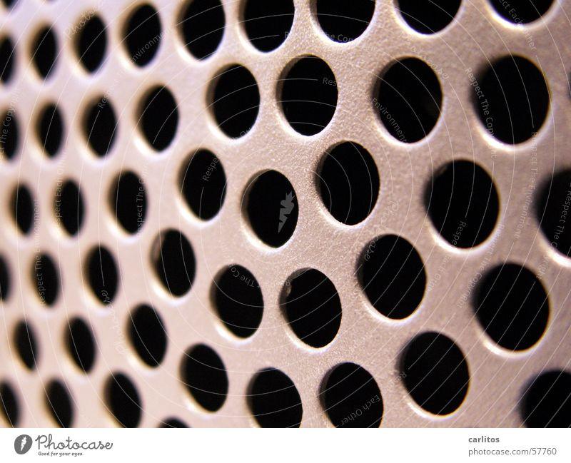 alles heisse Luft Elektrisches Gerät Informationstechnologie Fotokamera Loch rund konzentrisch Lüftung Belüftung heiß Physik Blech grau Oberfläche schwarz