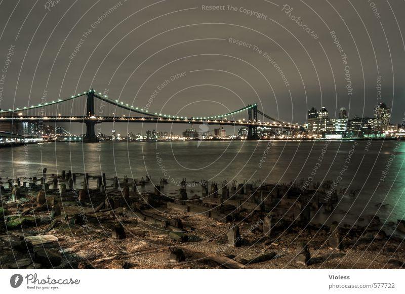!Trash! 2013   ...a older one dunkel Architektur außergewöhnlich fantastisch Brücke Macht Bauwerk Hauptstadt Bekanntheit Manhattan New York State Manhattan Bridge