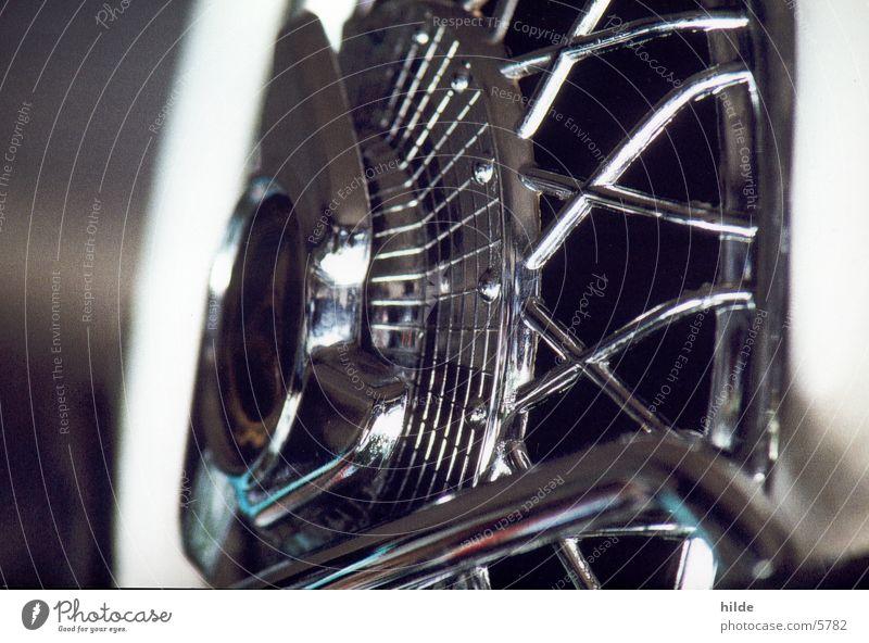detail II glänzend Motorrad Kleinmotorrad Chrom Fototechnik