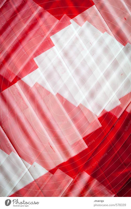 Barriere weiß Farbe rot Stil außergewöhnlich Linie Hintergrundbild elegant Schilder & Markierungen Design verrückt Kunststoff trendy Irritation Doppelbelichtung