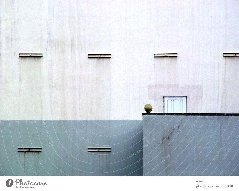 Bowl kalt Wand Mauer Linie Hintergrundbild Kugel verfallen graphisch sehr wenige reduzieren Vorderseite