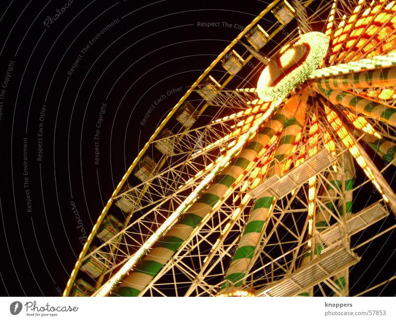 Riesenrad bei Nacht Freude dunkel Beleuchtung Feste & Feiern Romantik Lichtspiel Vergnügungspark Stadtfest Fahrgeschäfte Schützenfest Sendgericht