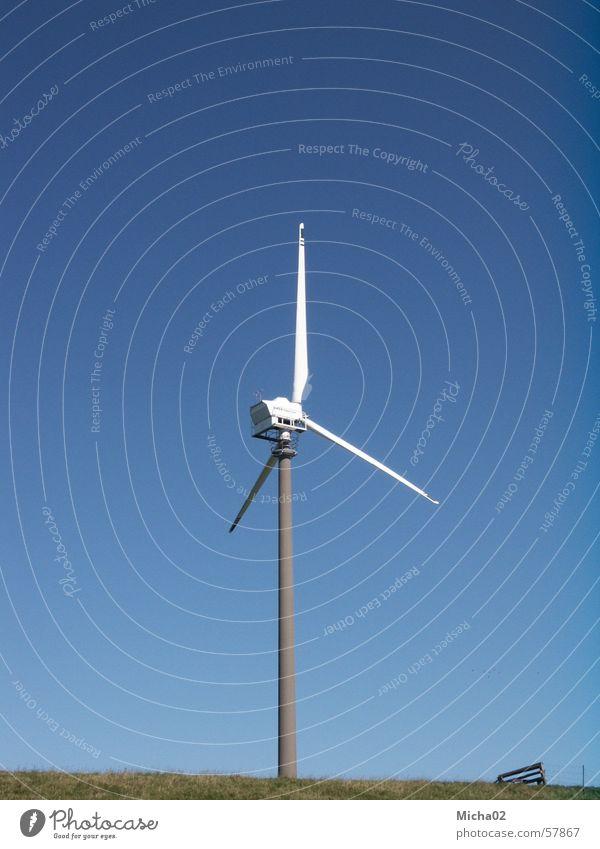 Windrad Himmel Küste Energiewirtschaft Windkraftanlage
