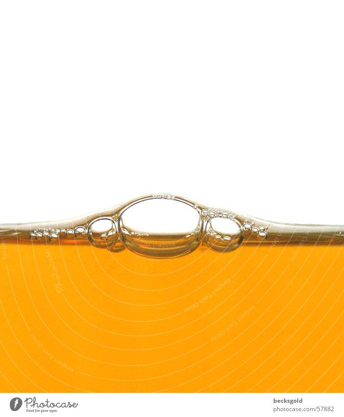 brabbel bubble Getränk Saft Makroaufnahme Seifenblase Bruch Blase blasen Tee orange Wasser Linse