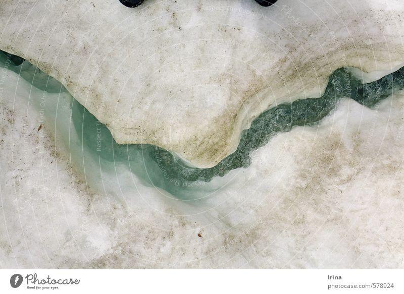 Grölland Mund Urelemente Wasser Winter Eis Frost Schnee Bach außergewöhnlich frech Fröhlichkeit kalt lustig türkis weiß Freude bizarr einzigartig Inspiration