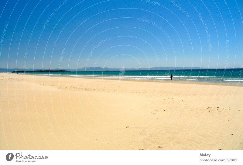 LonelyMan Himmel Meer Sommer Strand Ferien & Urlaub & Reisen Ferne Sand Wind Spaziergang Spanien Atlantik Andalusien Tarifa