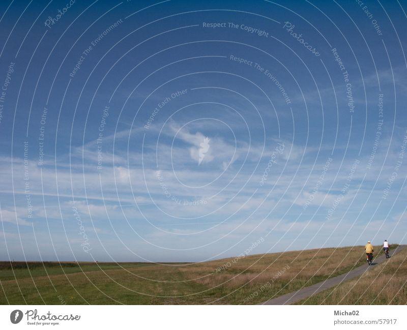 Radtour Himmel Sommer Ferien & Urlaub & Reisen Wolken Fahrradfahren