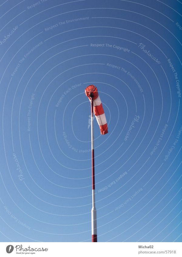 Windsack Windgeschwindigkeit Luft Windrichtung Wetter