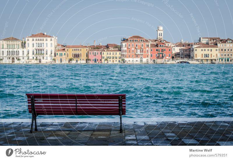 view to Venice Küste Insel Venedig Italien Europa Dorf Stadt Haus Ferien & Urlaub & Reisen ruhig Dorsoduro Isola della Giudecca Bank Farbfoto Außenaufnahme