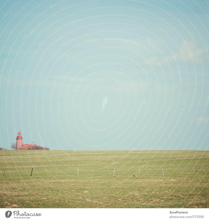 linksaußen Himmel Natur Ferien & Urlaub & Reisen blau grün Pflanze Sommer Einsamkeit rot Landschaft Wolken Umwelt Wiese Herbst Gras Küste