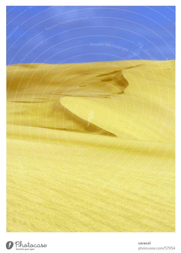 sand sculpture Himmel gelb Sand Wüste Neuseeland