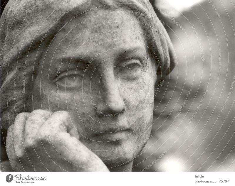 friedhof 4 Frau Stein Denken Freizeit & Hobby Statue Friedhof Marmor Granit Bildhauer