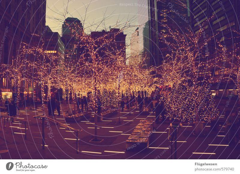 Weihnachten in NYC Lifestyle kaufen Reichtum Stadt Skyline überbevölkert Tatkraft Güte Weihnachten & Advent Weihnachtsbaum Weihnachtsdekoration Weihnachtsmarkt