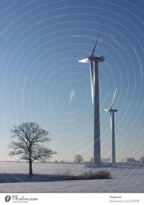 Natürlich im Doppelpack Windkraftanlage Elektrizität Propeller Wolken Horizont Technik & Technologie Energieeffizienz Emission Aerodynamik Umwelt