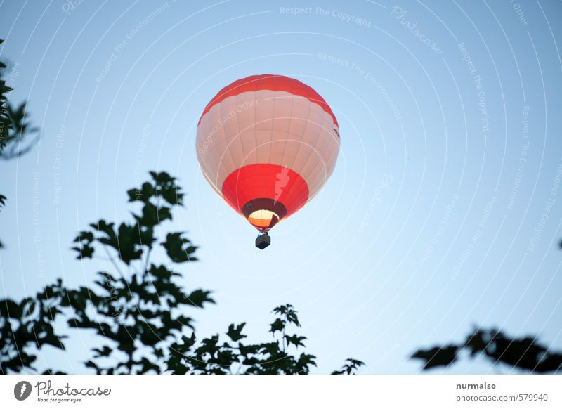 abgehoben Himmel Natur Sommer Erholung rot ruhig Gefühle fliegen Freizeit & Hobby Lifestyle Luftverkehr ästhetisch fantastisch Unendlichkeit Romantik fahren