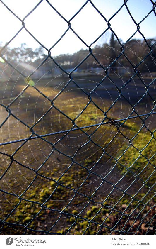 begrenztes licht Umwelt Gras Stimmung Platz Schönes Wetter Sicherheit Dorf Zaun Verfall Barriere Grenze Moos Flucht Draht Hinterhof Grundstück