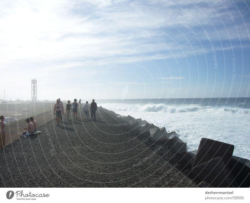 jardin maritim 1 Mensch Meer Küste See Wellen Wind Nebel Beton Spaziergang Sturm Anlegestelle Brandung Gischt Deich Wellengang Teneriffa