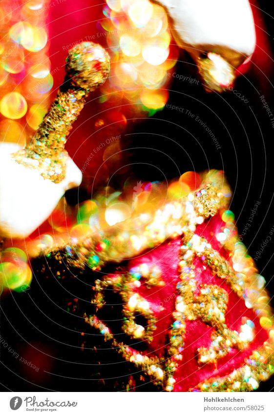 Trommelwirbel schlagen Schlagzeug mehrfarbig Makroaufnahme festlich Weihnachten & Advent Dekoration & Verzierung gltzern gold Licht