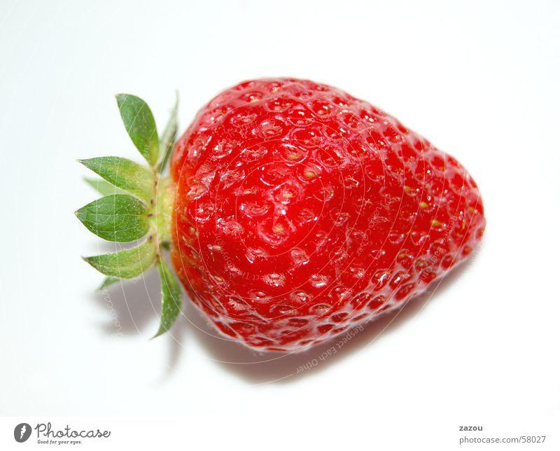 leckere Erdbeere rot Pflanze Erdbeeren Frucht Ernährung Beeren