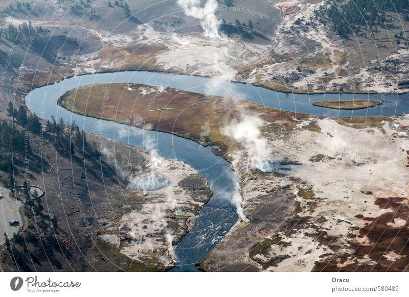 Geothermale Aktivitäten in der Wildness Natur Ferien & Urlaub & Reisen Pflanze schön Sommer Wasser Erholung Landschaft Wald Berge u. Gebirge Freiheit fliegen