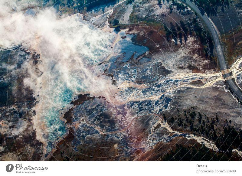 Geothermal activity - Yellowstone National Park Natur Ferien & Urlaub & Reisen Pflanze Wasser Baum Erholung Landschaft Ferne Wald Umwelt Leben Wiese