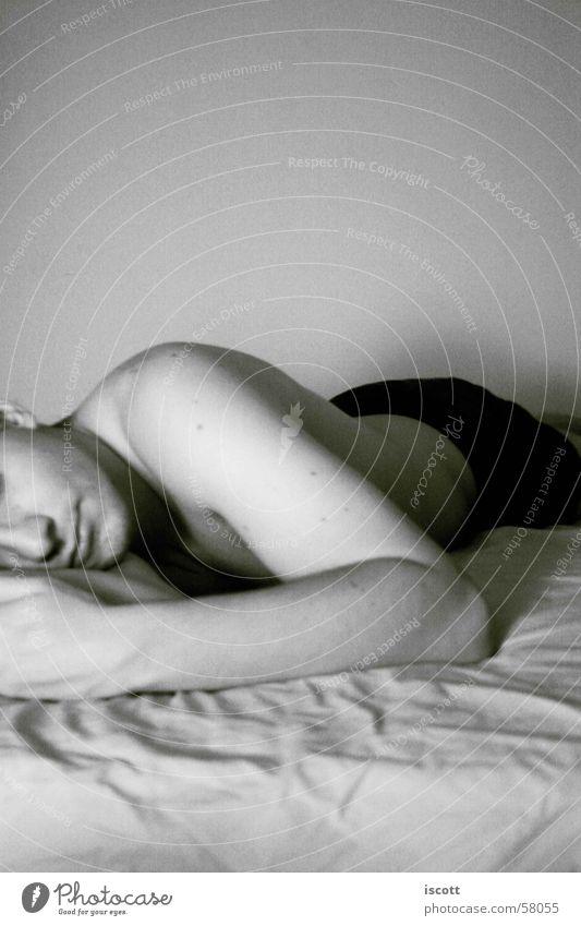 Schnuu Mann schön Arme schlafen Bett liegen Müdigkeit