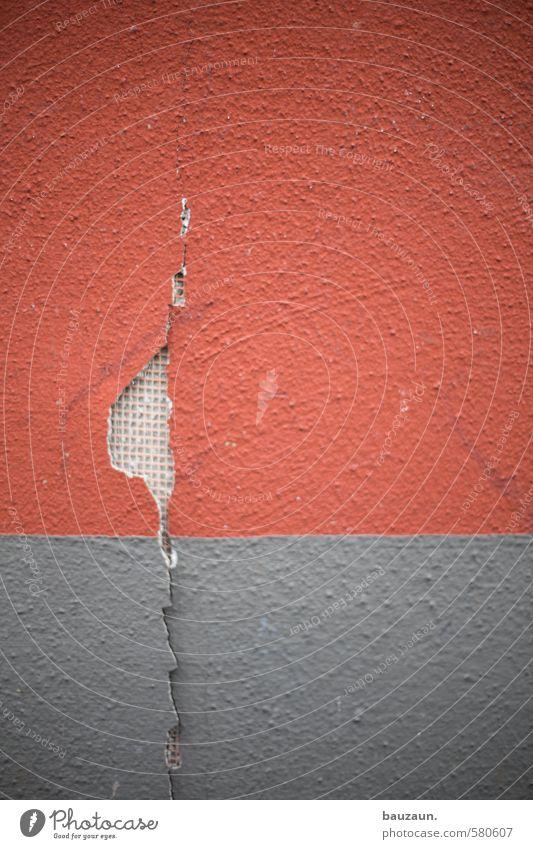 ut köln | pascha | wdvs. rot Haus Umwelt Wand Gebäude Mauer grau Fassade Häusliches Leben Energiewirtschaft kaputt Baustelle Kunststoff Bauwerk Handwerk