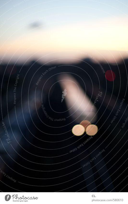 ut pascha | ich komm mit dem zug Himmel Ferien & Urlaub & Reisen dunkel Bewegung Wege & Pfade Verkehr Schönes Wetter Zukunft Eisenbahn Güterverkehr & Logistik