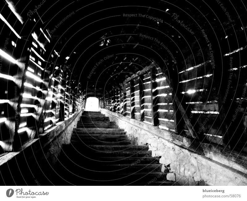 Treppen zur Burg in Sighisoara weiß schwarz Rumänien