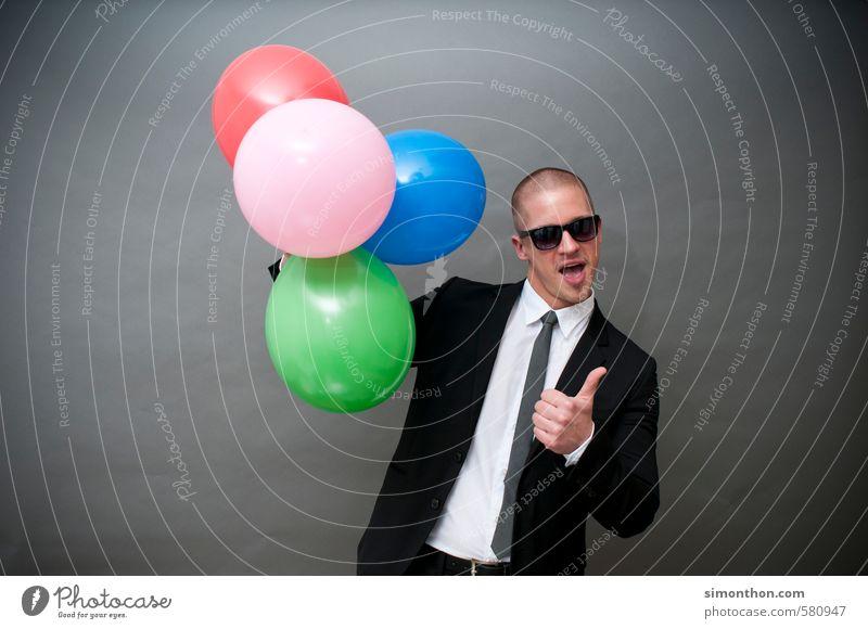 Abschluss Mensch Freude Feste & Feiern Party Stimmung Business maskulin Zufriedenheit Erfolg Wachstum Geburtstag Coolness Macht Lebensfreude Hochzeit Ziel