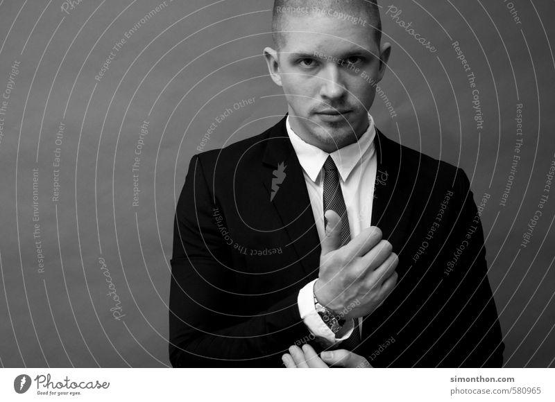 Chefsache Mensch Stil Mode Business maskulin Erfolg Studium Macht planen Ziel Bildung Risiko Team Geldinstitut Anzug Reichtum