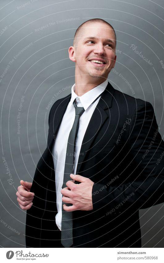Karriere Mensch sprechen Stil Business maskulin elegant Erfolg Studium Geldinstitut Student Sitzung Anzug Reichtum Wirtschaft Handel Berufsausbildung