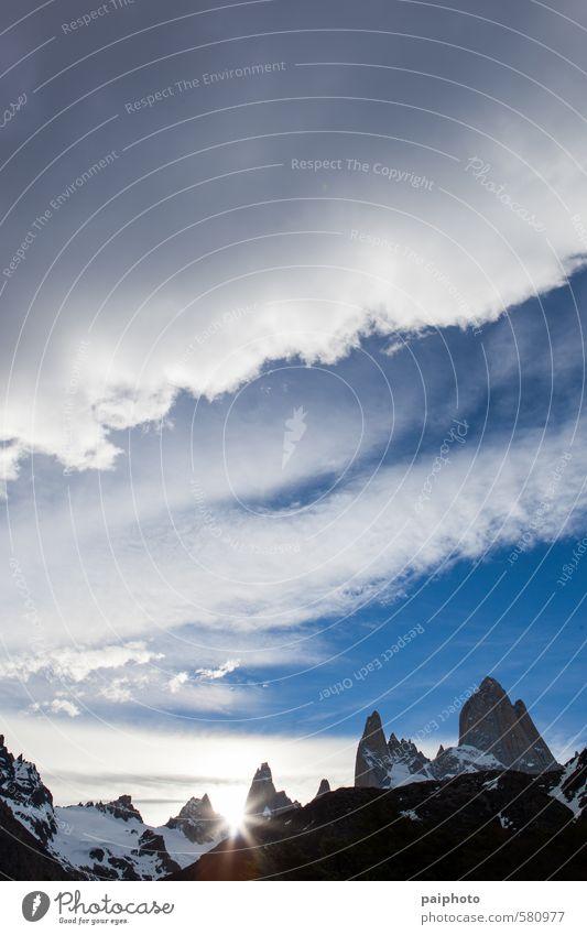 Himmel Natur Ferien & Urlaub & Reisen Sommer Sonne Landschaft Wolken Ferne Umwelt Berge u. Gebirge Tourismus Klima Alpen rein abgelegen Bergsteigen