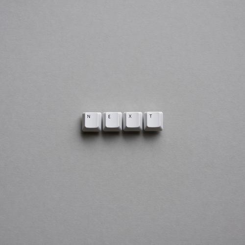 ...year Tastatur Karton Buchstaben Zeichen Schriftzeichen grau weiß Wandel & Veränderung Zukunft vorwärts weiterkommen Weiterentwicklung Silvester u. Neujahr