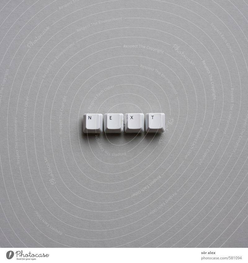 ...year weiß grau Schriftzeichen Zukunft Wandel & Veränderung Zeichen Buchstaben Silvester u. Neujahr Wort Typographie Tastatur Karton vorwärts Plan Anschluss