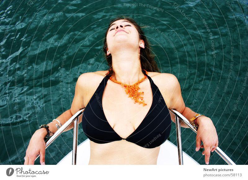 wörther see Frau Wasser Sonne Sommer Erotik See Wasserfahrzeug Frauenbrust Model Beruf Brust