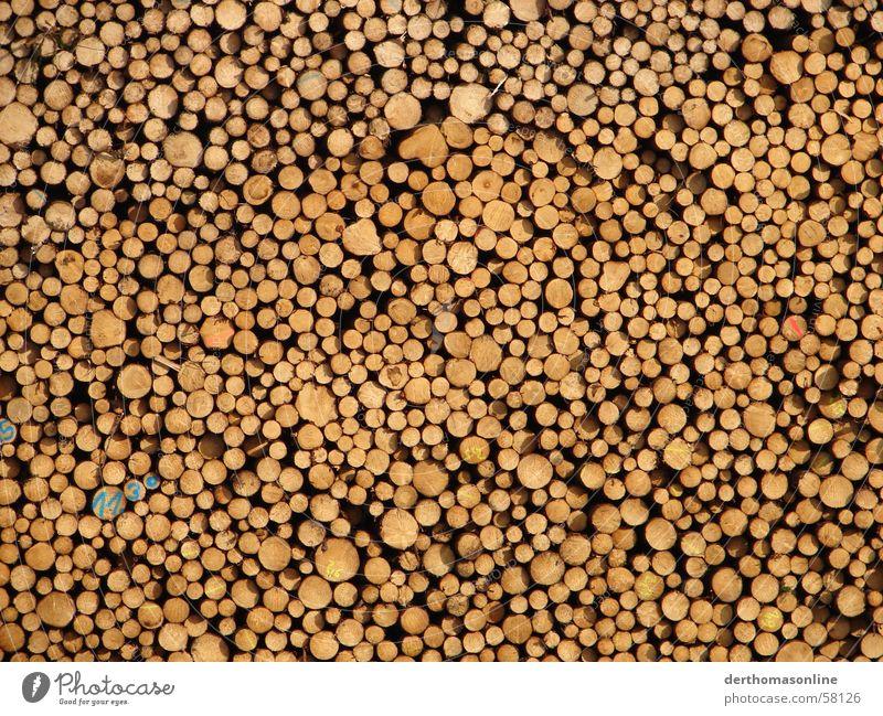 11.30 Baumstamm Holz Holzmehl Natur braun beige Baumrinde Brennholz Sägewerk Strukturen & Formen mehrere Haufen Anhäufung Holzfäller Papierfabrik Jahresringe