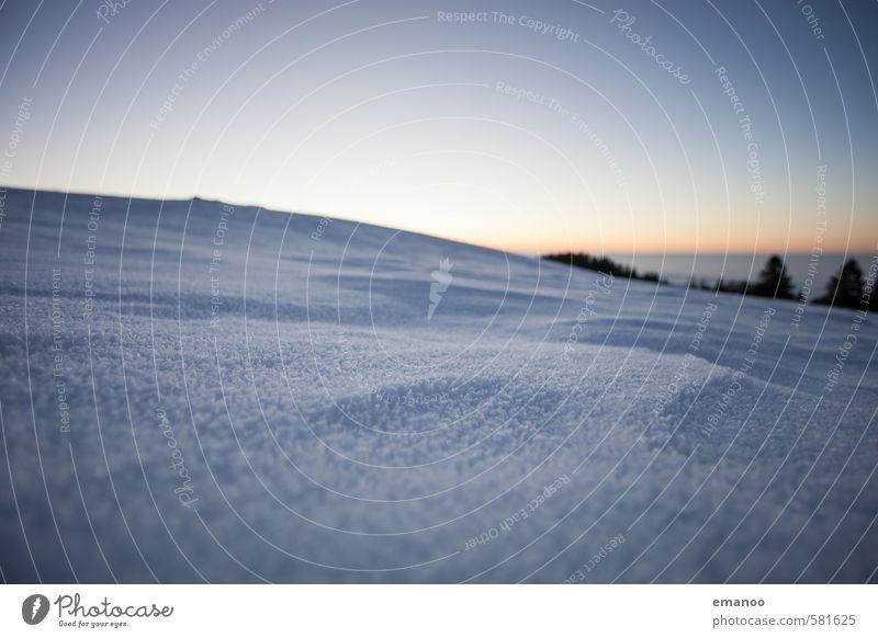 Winterweitwinkel Ferien & Urlaub & Reisen Ausflug Schnee Winterurlaub Berge u. Gebirge Natur Landschaft Himmel Horizont Klima Wetter Eis Frost Baum Hügel Alpen