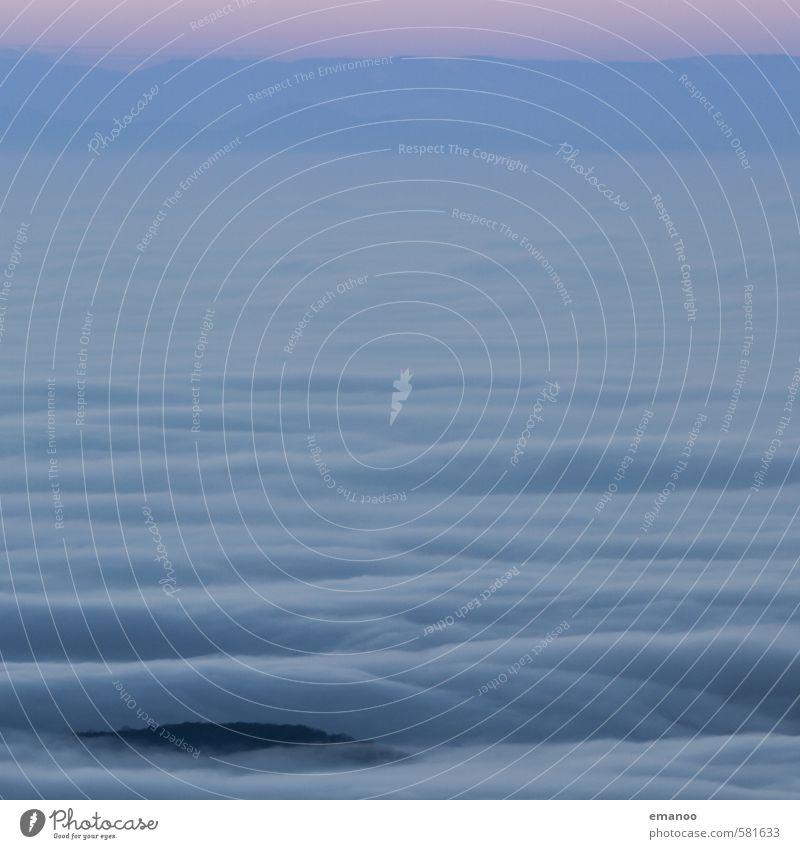 Wellen im Nebelmeer Himmel Natur Ferien & Urlaub & Reisen Wasser Landschaft Wolken Ferne kalt Berge u. Gebirge Luft fliegen Wetter Wind Klima