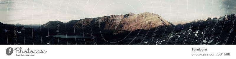 Silvretta Montafon Natur Landschaft Herbst Alpen Berge u. Gebirge Gipfel dunkel natürlich Gedeckte Farben Außenaufnahme Menschenleer Tag Schatten Kontrast