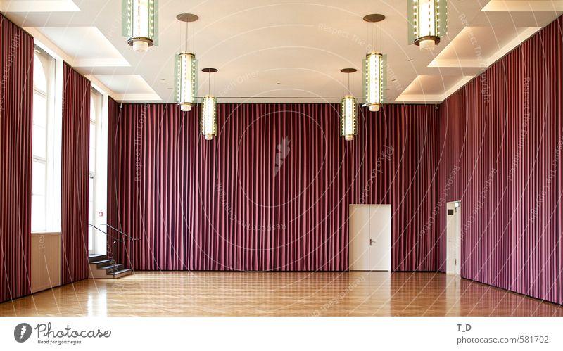 Erfassung eines Raumes weiß Einsamkeit Wand Mauer Architektur Kunst braun Treppe Tür Zufriedenheit trist Design groß authentisch ästhetisch einfach