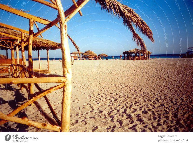 Ägypten - Naturschutz - Insel vor Hurghada Sonne Meer blau rot Sommer Freude Strand Ferien & Urlaub & Reisen ruhig Haus Ferne Erholung Holz träumen Wärme
