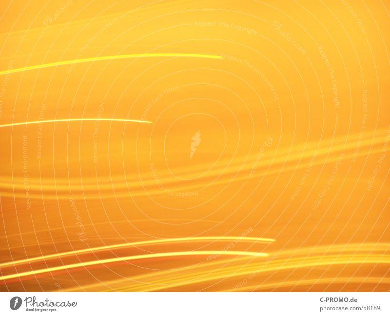 Lichtertanz Freude gelb Farbe Bewegung hell Tanzen orange Hintergrundbild Geschwindigkeit Spuren
