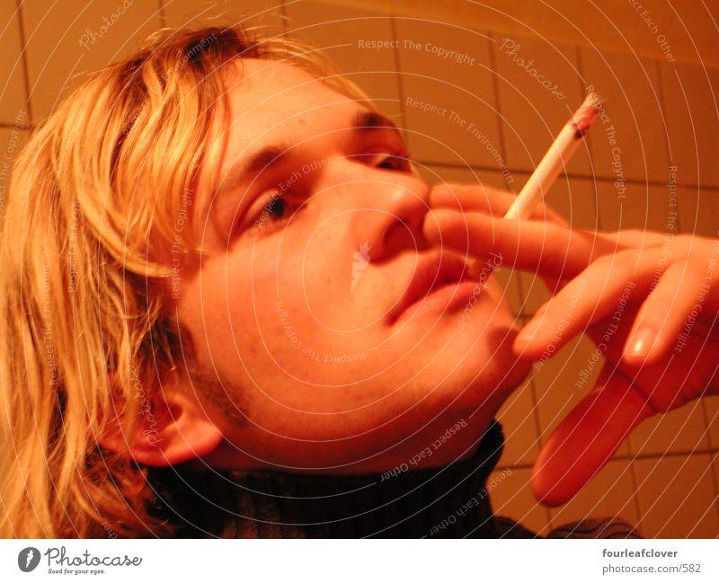 rauchend Mensch Gesicht Rauchen Zigarette Porträt