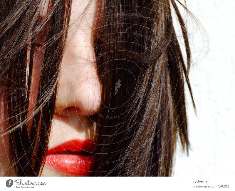 Sunglases everywhere VIII Frau Mensch Gesicht Haare & Frisuren Stil glänzend Haut Lippen geheimnisvoll Kosmetik Reihe Gesichtsausdruck Lippenstift